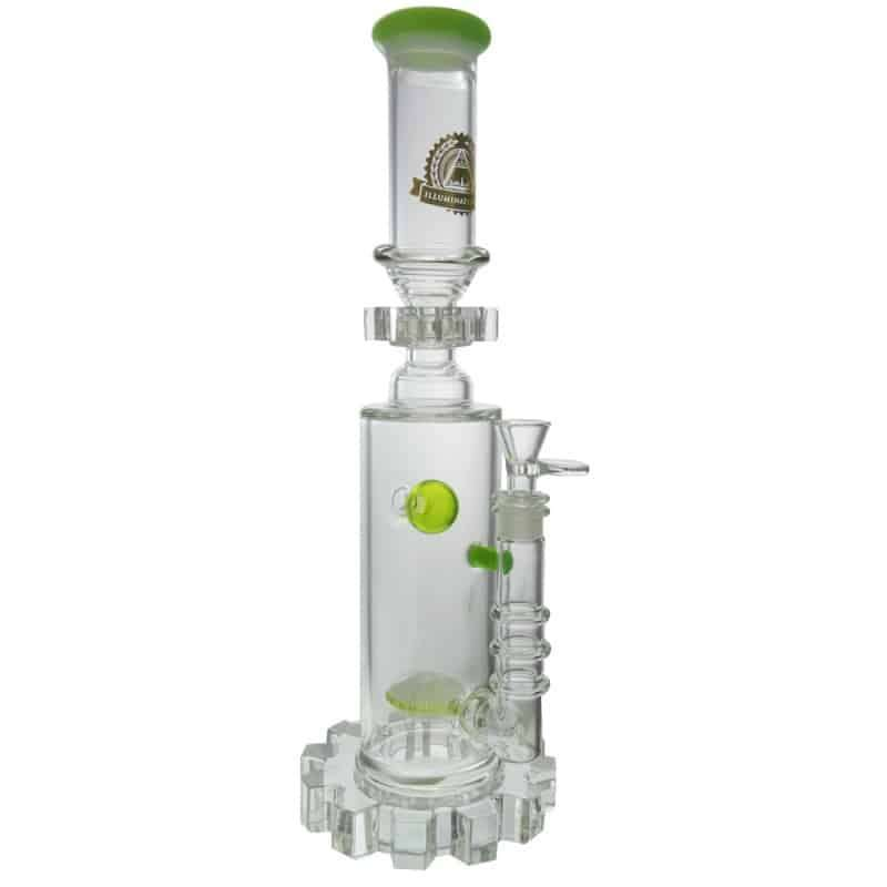 135-green-slime-sphere-perc-w-moving-gear-and-gear-base-by-illuminati-glass